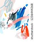 art poster. paint strokes. ...   Shutterstock . vector #1236444268