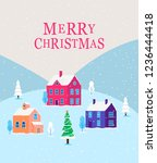 christmas card with winter... | Shutterstock .eps vector #1236444418