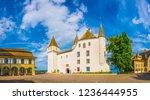 White Chateau de Nyon in Switzerland