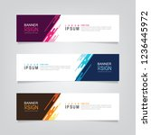 vector abstract web banner... | Shutterstock .eps vector #1236445972