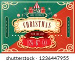 vintage circus christmas... | Shutterstock .eps vector #1236447955
