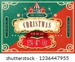 vintage circus christmas... | Shutterstock .eps vector #1236447955