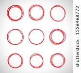circle hand drawn isolated on... | Shutterstock .eps vector #1236468772