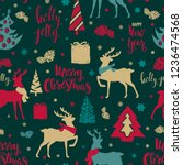 merry christmas and happy new... | Shutterstock .eps vector #1236474568