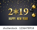 2019 new year background for... | Shutterstock . vector #1236478918