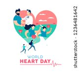 world heart day illustration... | Shutterstock . vector #1236481642