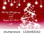 merry christmas and happy new...   Shutterstock . vector #1236483262