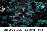 futuristic graphical user...