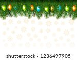 christmas holiday background... | Shutterstock .eps vector #1236497905