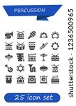 vector icons pack of 25 filled... | Shutterstock .eps vector #1236500965