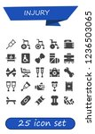 vector icons pack of 25 filled... | Shutterstock .eps vector #1236503065