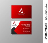 bussines card template design | Shutterstock .eps vector #1236503662