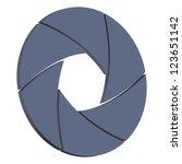 illustration of  camera shutter ... | Shutterstock . vector #123651142