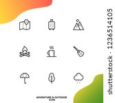 adventure and outdoor icon pack | Shutterstock .eps vector #1236514105