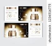 gift voucher hydrating facial... | Shutterstock .eps vector #1236516775