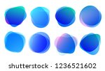 abstract blur shapes blue color ... | Shutterstock .eps vector #1236521602