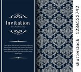 decorative wedding invitation... | Shutterstock .eps vector #1236522742