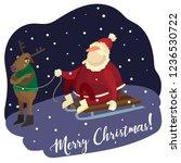 santa wants to go   Shutterstock .eps vector #1236530722