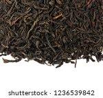 black tea leaves isolated on... | Shutterstock . vector #1236539842