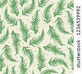 seamless pattern with branches... | Shutterstock .eps vector #1236539992