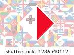 flag background of european... | Shutterstock .eps vector #1236540112
