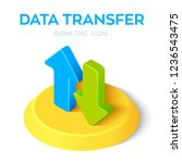 data transfer isometric icon.... | Shutterstock .eps vector #1236543475