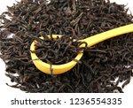 dried black tea leaves | Shutterstock . vector #1236554335