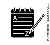 grammar and writing glyph icon. ... | Shutterstock .eps vector #1236557332