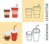 illustration. set of colorful... | Shutterstock . vector #1236557518
