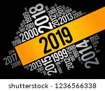 2019 happy new year and...   Shutterstock .eps vector #1236566338