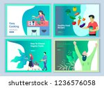 set of landing page templates... | Shutterstock .eps vector #1236576058
