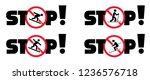 no skiing ski no cross country...   Shutterstock .eps vector #1236576718