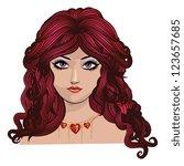 illustration of fantasy girl... | Shutterstock . vector #123657685