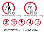 no skiing ski no cross country... | Shutterstock .eps vector #1236579628