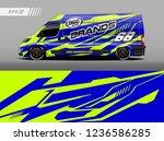 cargo van car wrap design... | Shutterstock .eps vector #1236586285