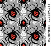 spider funky seamless rough... | Shutterstock .eps vector #1236591355