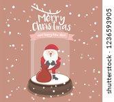 merry christmas glass ball...   Shutterstock .eps vector #1236593905