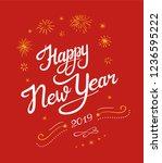 new year 2019 lettering designs....   Shutterstock .eps vector #1236595222