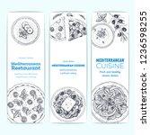 mediterranean food banner... | Shutterstock .eps vector #1236598255
