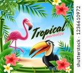 tropical summer illustration   Shutterstock .eps vector #1236610972