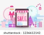online shopping christmas sale... | Shutterstock .eps vector #1236612142