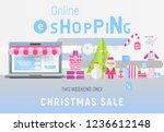 online shopping christmas sale... | Shutterstock .eps vector #1236612148