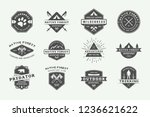 set of vintage camping outdoor... | Shutterstock .eps vector #1236621622