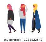 hijab muslim woman. modern... | Shutterstock .eps vector #1236622642