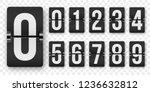 countdown numbers flip counter... | Shutterstock .eps vector #1236632812