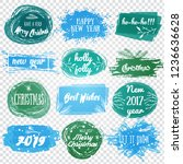 labels with christmas and new... | Shutterstock .eps vector #1236636628