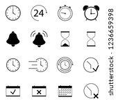 clocks  time icons set. | Shutterstock .eps vector #1236659398