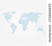 world map vector illustrated... | Shutterstock .eps vector #1236666655
