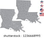Louisiana County Map Vector...