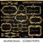set of vintage frames and... | Shutterstock .eps vector #1236674392